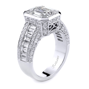 18KTW ENGAGEMENT RING, DIAMOND 2.40CT