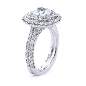 18KT WHITE ENGAGEMENT RING 1.42CT