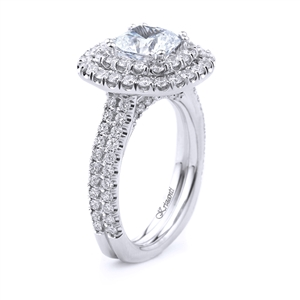 18KT WHITE ENGAGEMENT RING 1.37CT