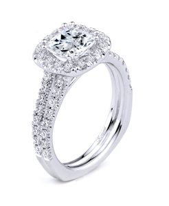 18K WHITE ENGAGEMENT DIA-0.67ct