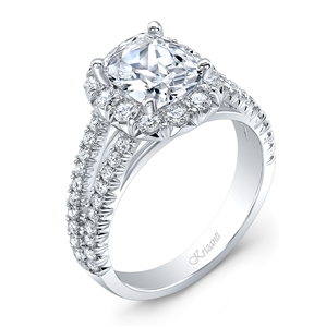 18K WHITE ENGAGEMENT 0.93 CT