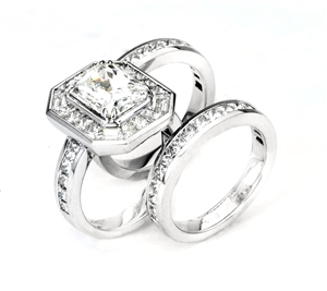 18KTW ENGAGEMENT SET, DIAMOND 7.35CT