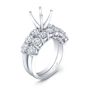 18K WHITE ENGAGEMENT SET 2.66CT