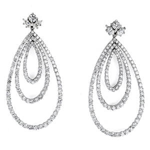18KTW CHANDELIER EARRINGS, DIAMOND 8.50CT