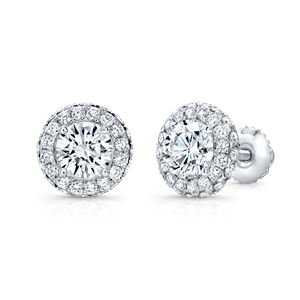 18K WHITE EARRINGS 0.94CT
