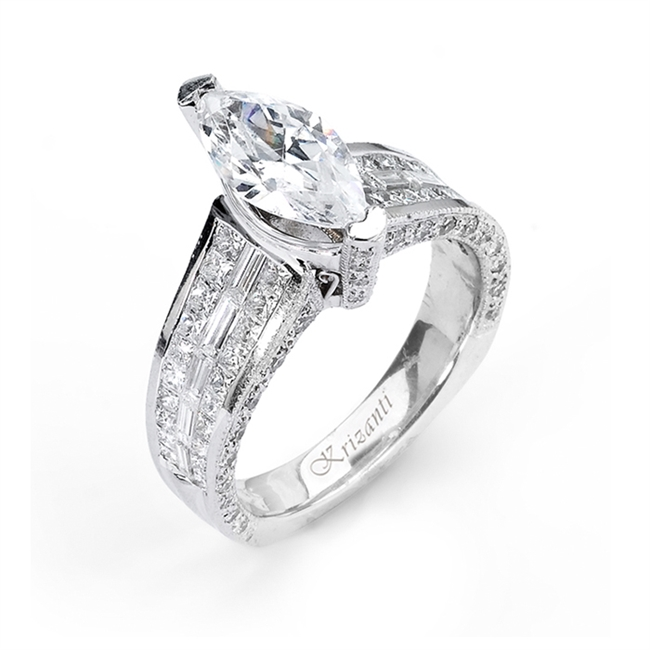 18KTW INVISIBLE SET ENGAGEMENT RING 2.04CT
