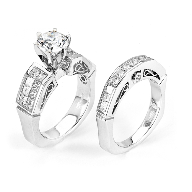 18KTW ENGAGEMENT SET, DIAMOND 1.98CT