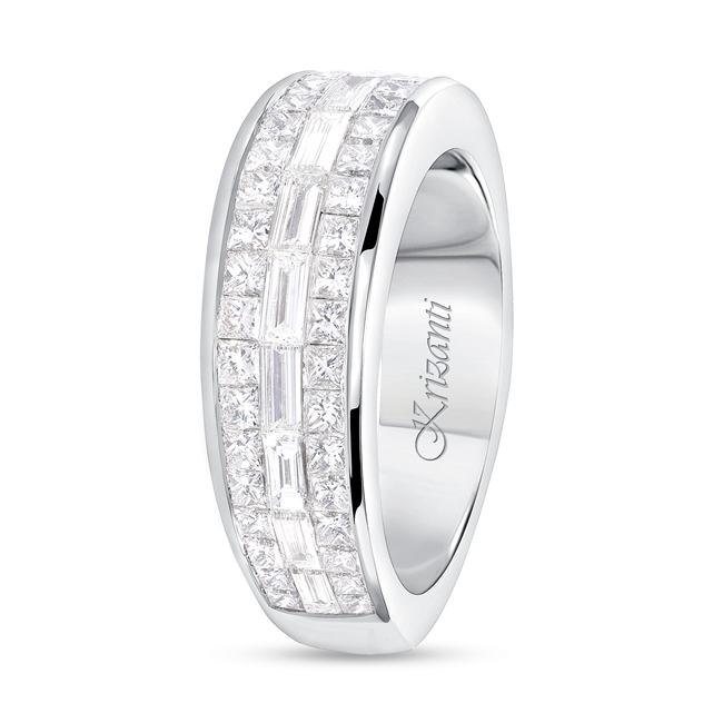 18K WHITE BAND 2.00ct