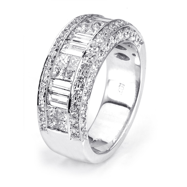 18KTW INVISIBLE SET BAND, DIAMOND 2.56CT