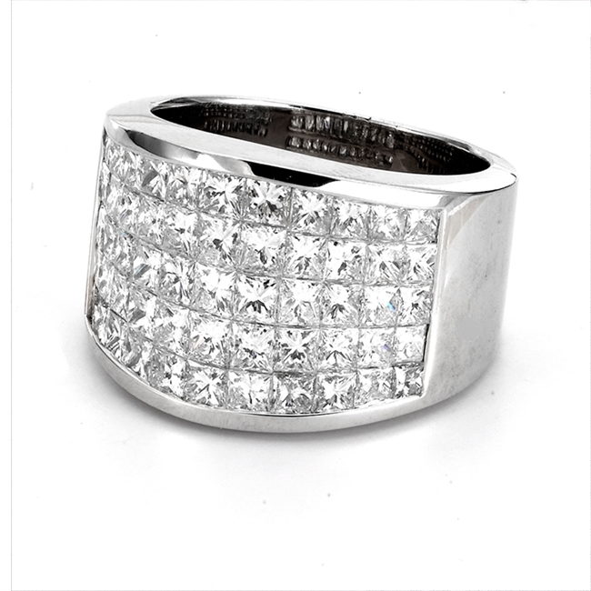 18KTW INVISIBLE SET BAND,  DIAMOND 3.60CT