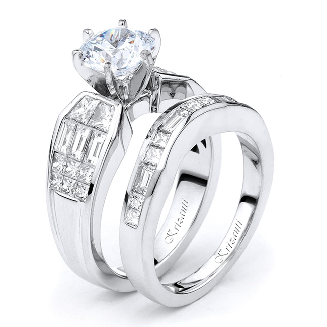 18KTW INVISIBLE SET, ENGAGEMENT SET 2.06CT