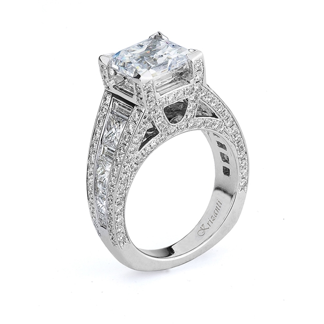 18KTW ENGAGEMENT RING 3.47CT