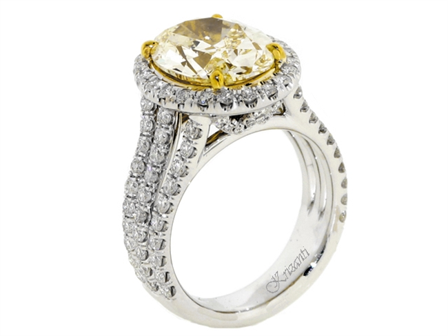 18KT 2 TONE ENGAGEMENT RING 1.55CT