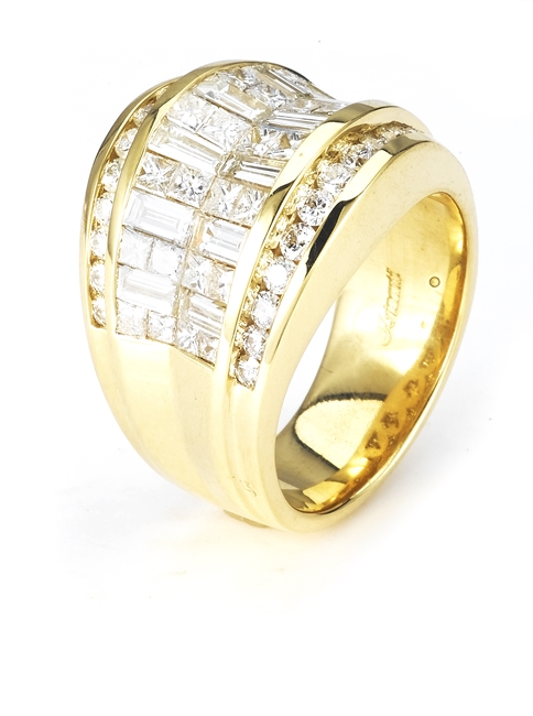 18K.YELLOW BAND 3.50ct
