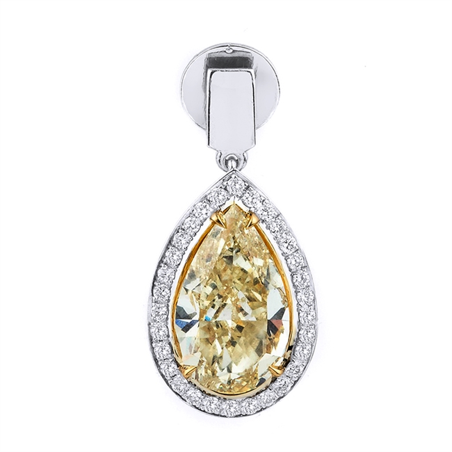 18KT.W PENDANT DIAM-0.50ct MORGANITE-5.08ct