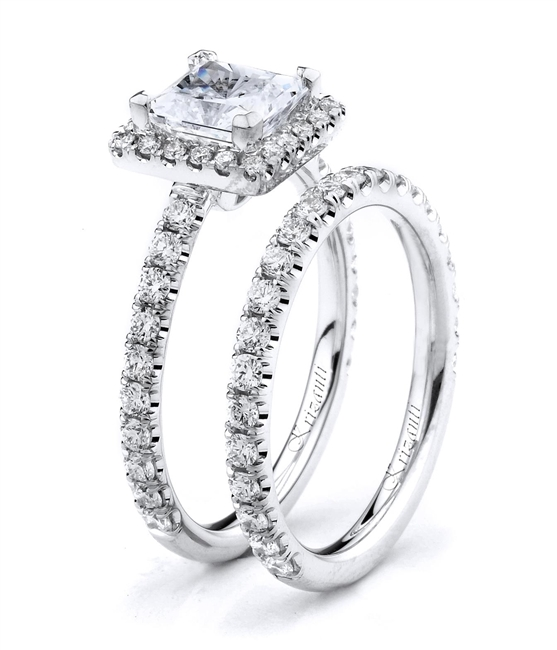 18KTW ENGAGEMENT SET, DIAMOND0.93CT