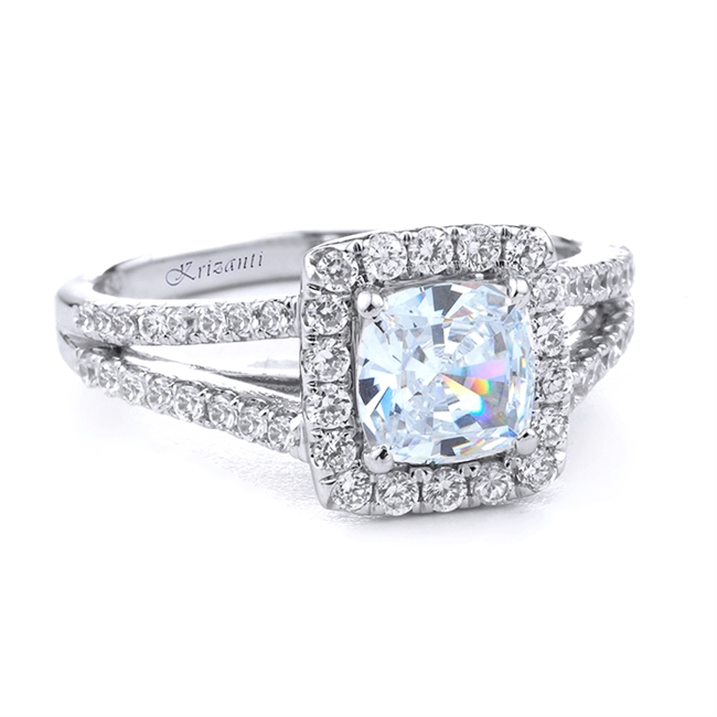 18KT WHITE ENGAGEMENT RING 0.45 CT