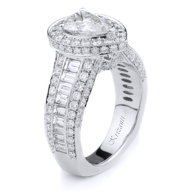 18KT WHITE ENGAGEMENT RING, DIAMOND 2.27CT