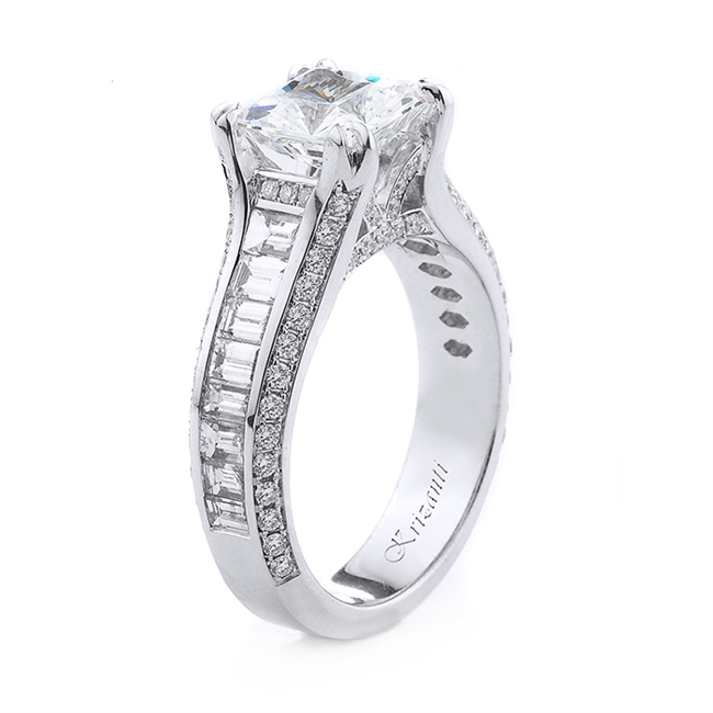 Krizanti 18KTW ENGAGEMENT RING BAG111CT RD044CT