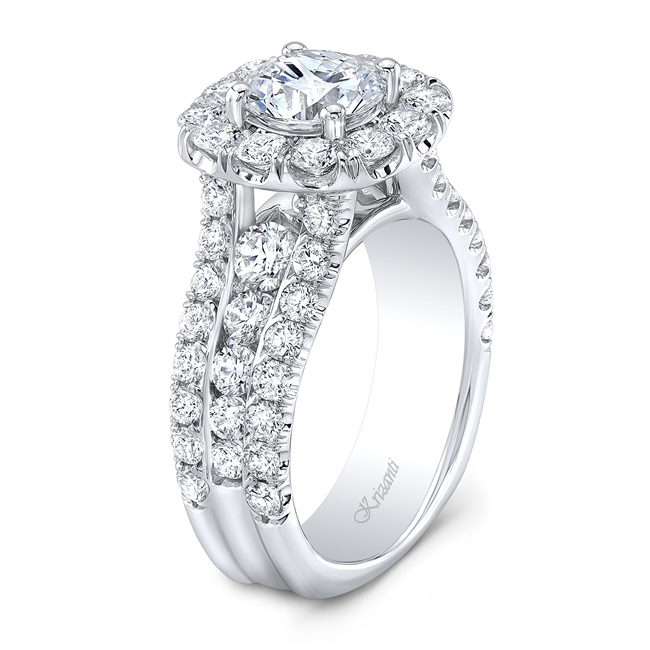 18KT WHITE ENGAGEMENT RING 2.20CT