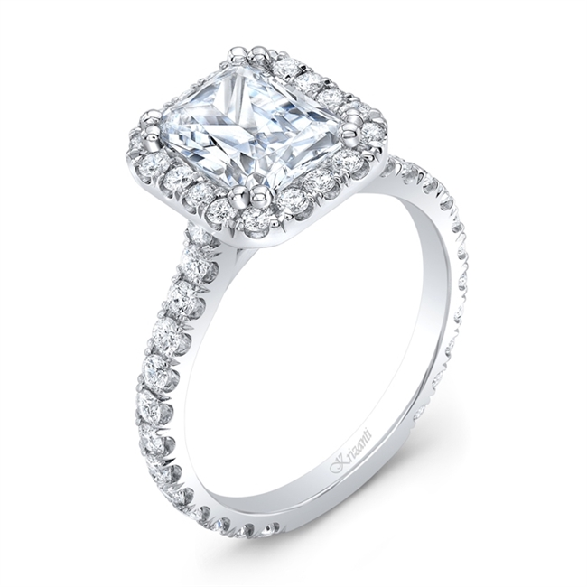 18K WHITE ENGAGEMENT 0.91ct