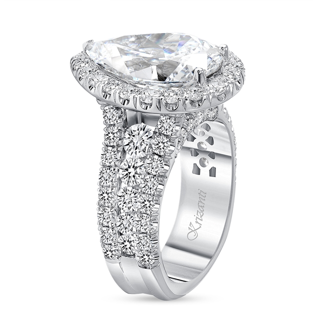 18K WHITE ENGAGEMENT 3.38ct