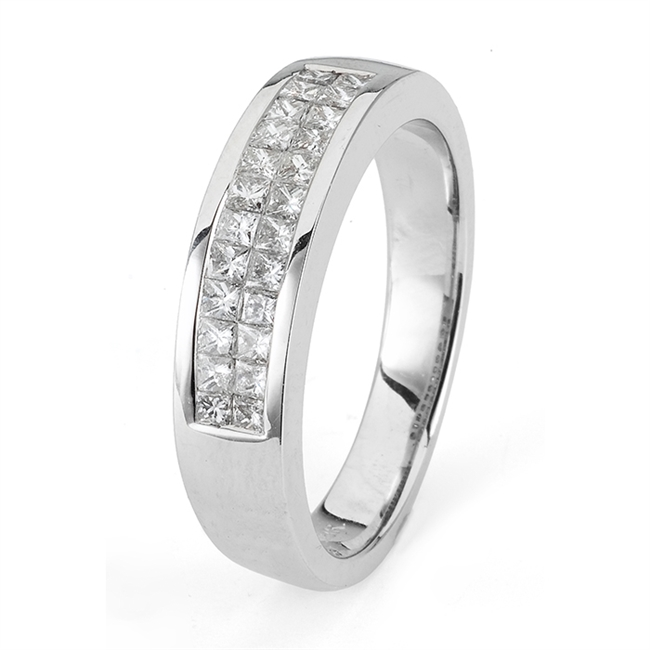 18KTW GENT'S BAND 0.84CT