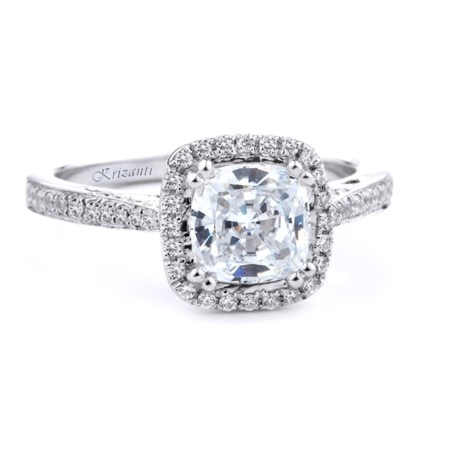 18KT WHITE ENGAGEMENT RING 0.25 CT