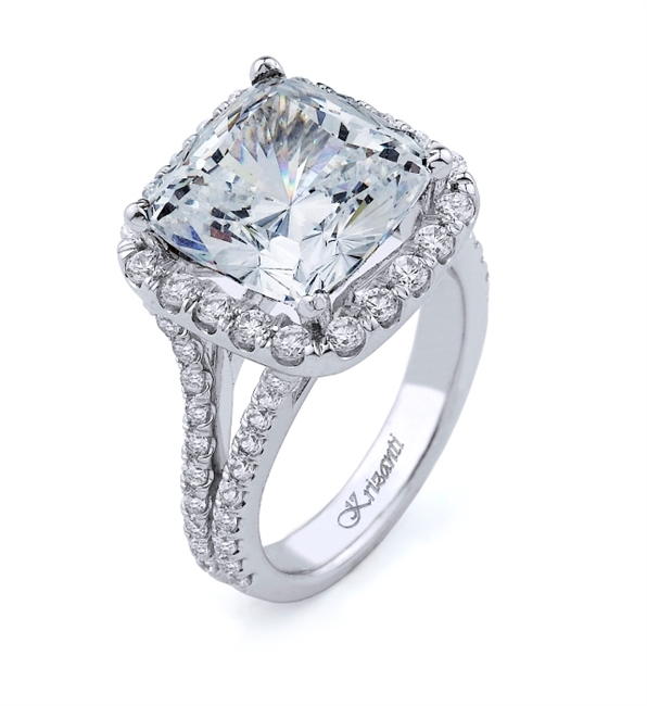 18K.WHITE ENGAGEMENT 1.12ct