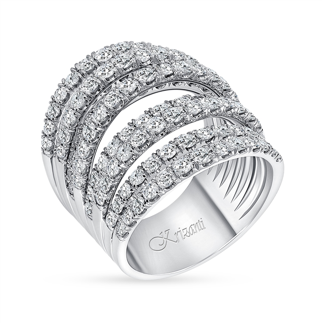 18K WHITE FASHION BAND 5.00ct