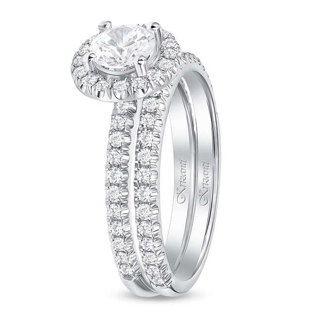18K WHITE ENGAGEMENT SET 1.01ct