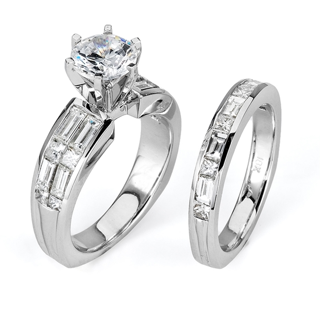 18KTW INVISIBLE SET, ENGAGEMENT SET 2.01CT