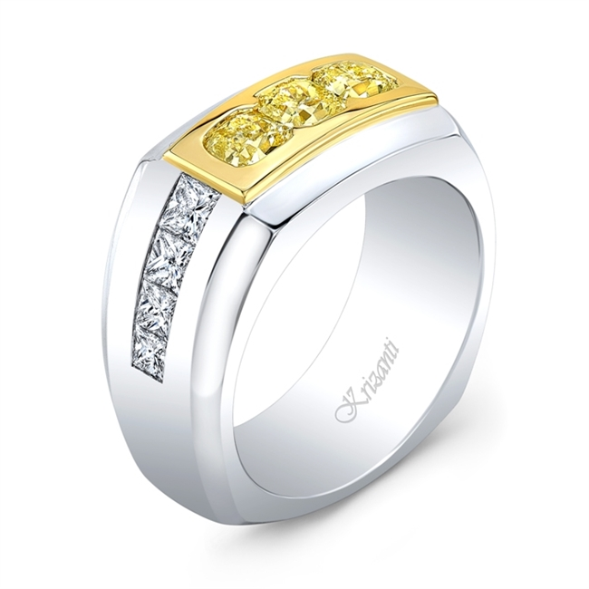 18K WHITE GENT'S RINGS PRN-1.30ct
