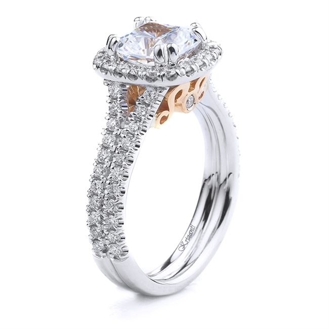18KT WHITE ENGAGEMENT RING 0.58CT