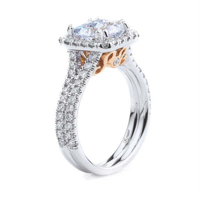 18KT WHITE ENGAGEMENT RING 0.68CT