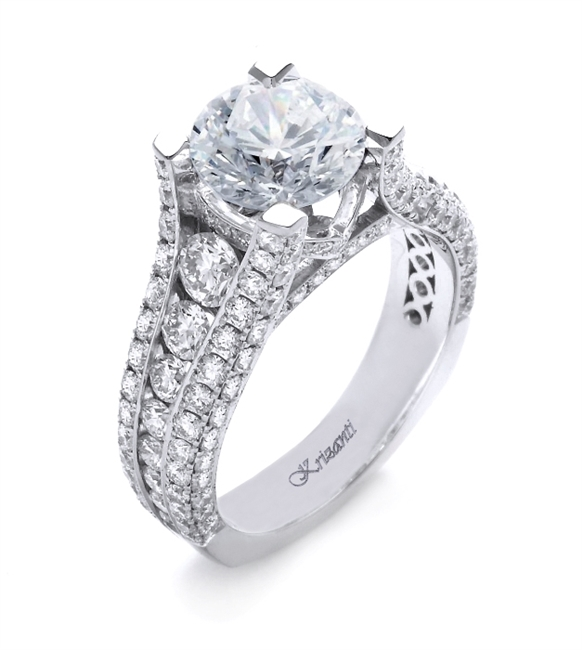 18K WHITE ENGAGEMENT RING 2.52ct