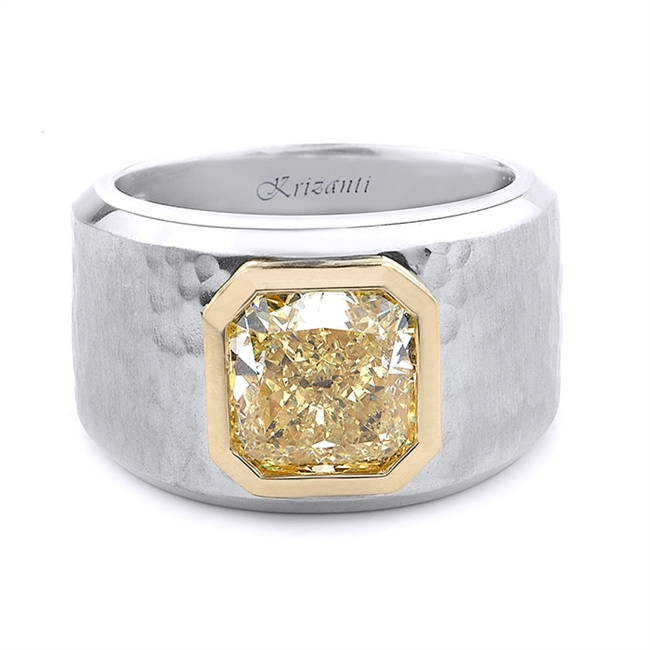 18KT 2 TONE GENTS RING