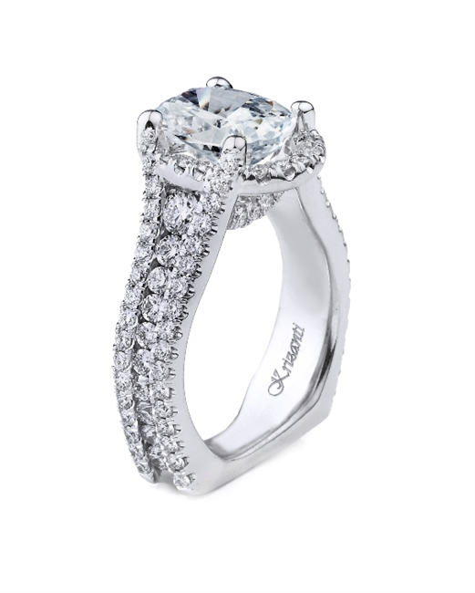 18K WHITE ENGAGEMENT 1.71ct