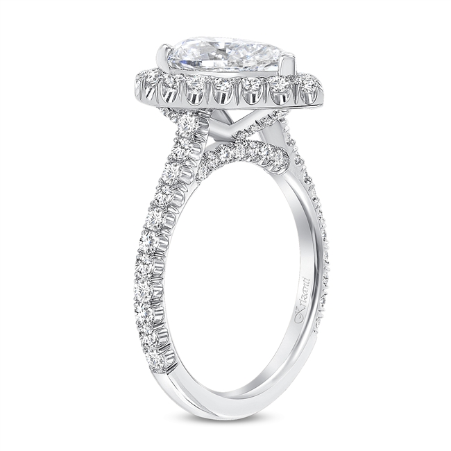 KRIZANTI 18K WHITE ENGAGEMENT RING 1.18ct