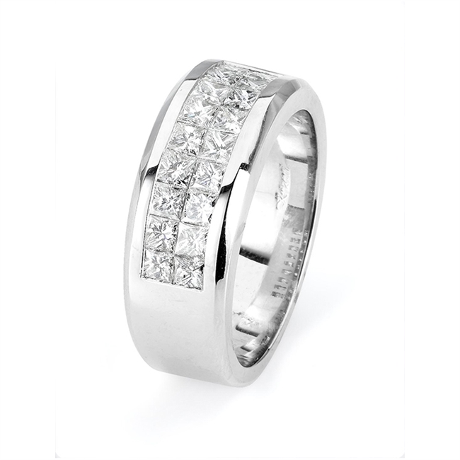 18KTW INVISIBLE BAND, DIAMOND 2.10CT
