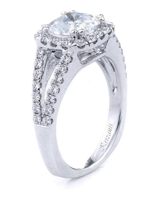 18KT WHITE ENGAGEMENT RING 0.60 CT
