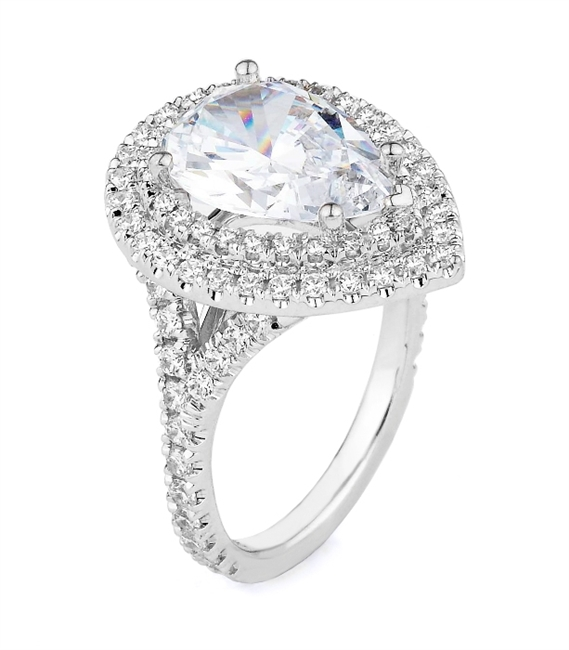 18K.WHITE ENGAGEMENT 1.11ct
