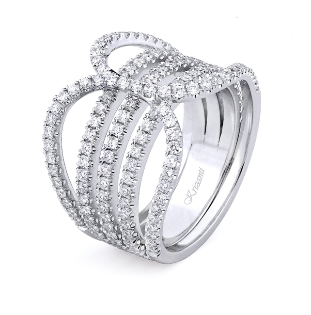 18K WHITE FASHION BAND 1.40ct