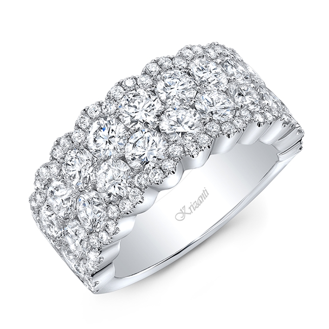 18K WHITE BAND 4.28 CT