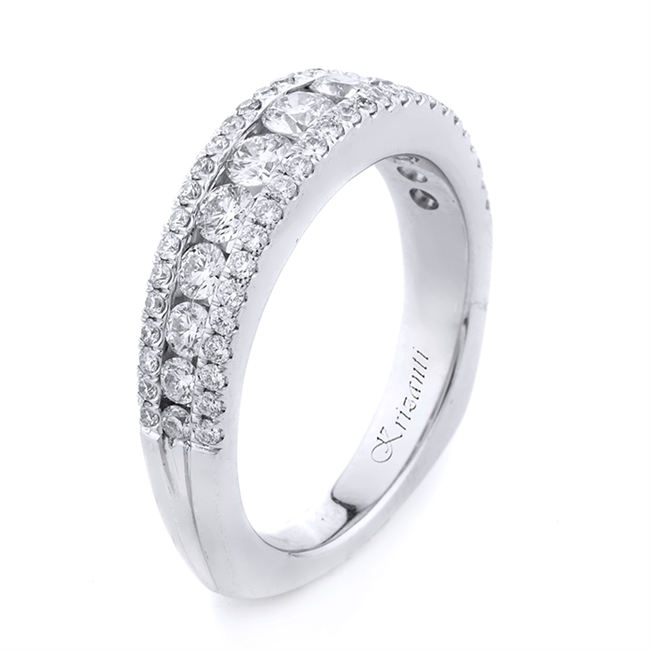 18KT WHITE BAND, DIAMOND 1.03CT